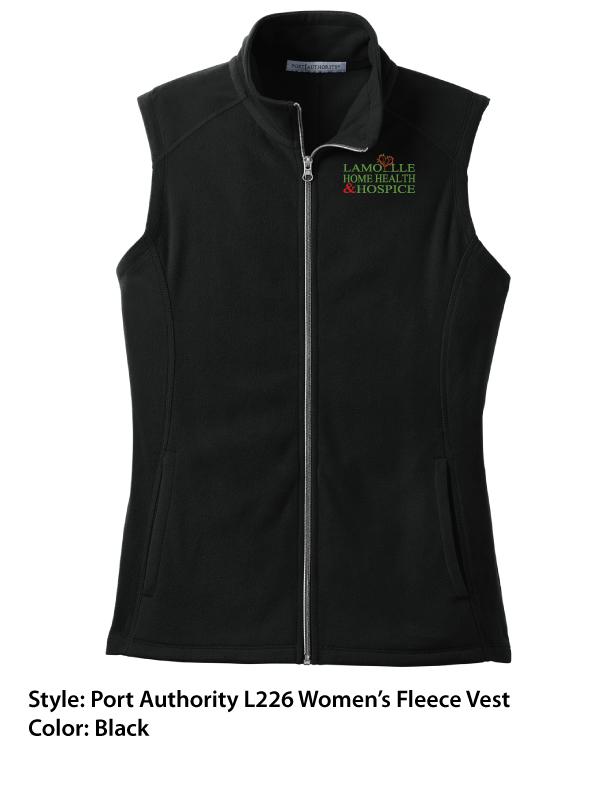 Port Authority Fleece Vest – Black