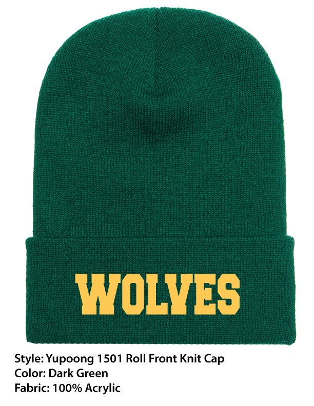 PA Wolves | Yupoong Knit Roll Cuff Beanie