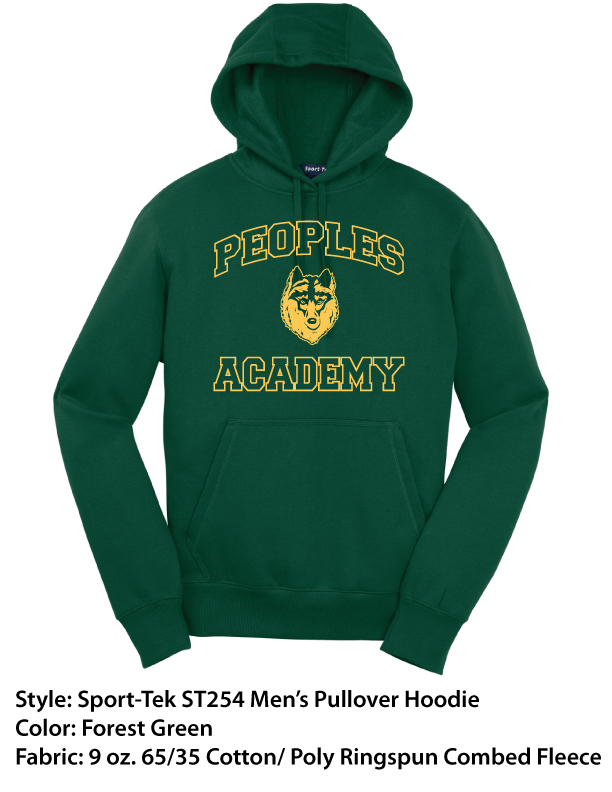 Peoples Academy | Sport-Tek Pullover Hoodies – Forest Green
