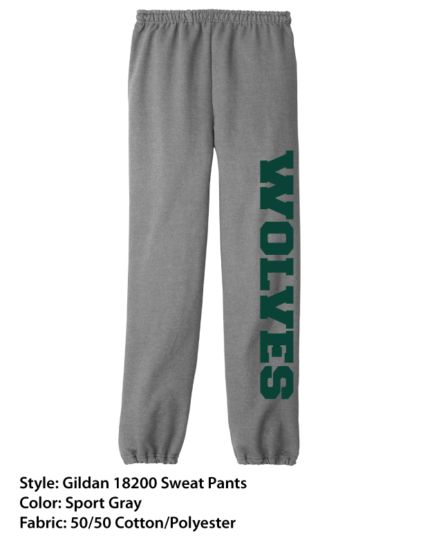 Peoples Academy Wolves | Gildan Sweat Pants