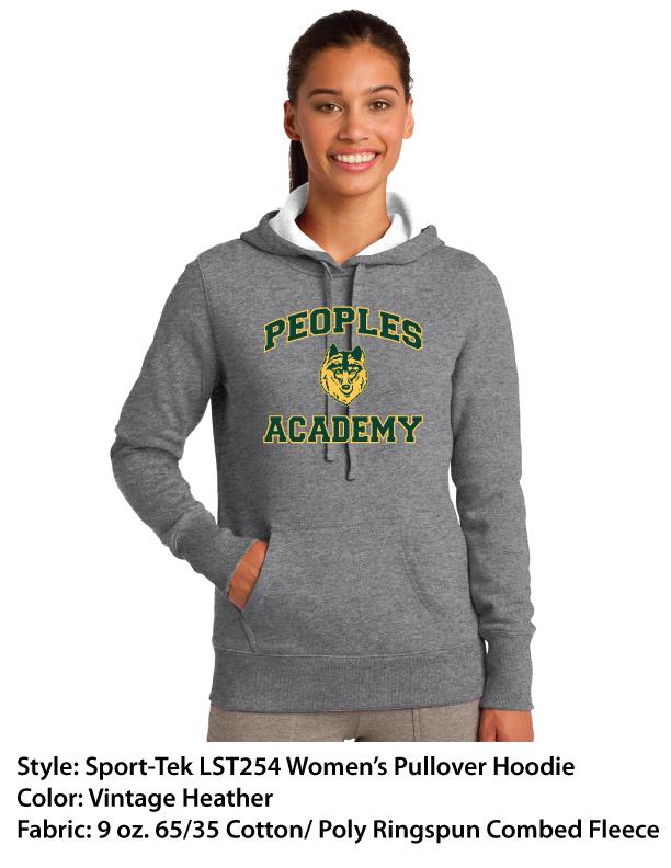 Peoples Academy | Sport-Tek Pullover Hoodies – Black & Vintage Heather