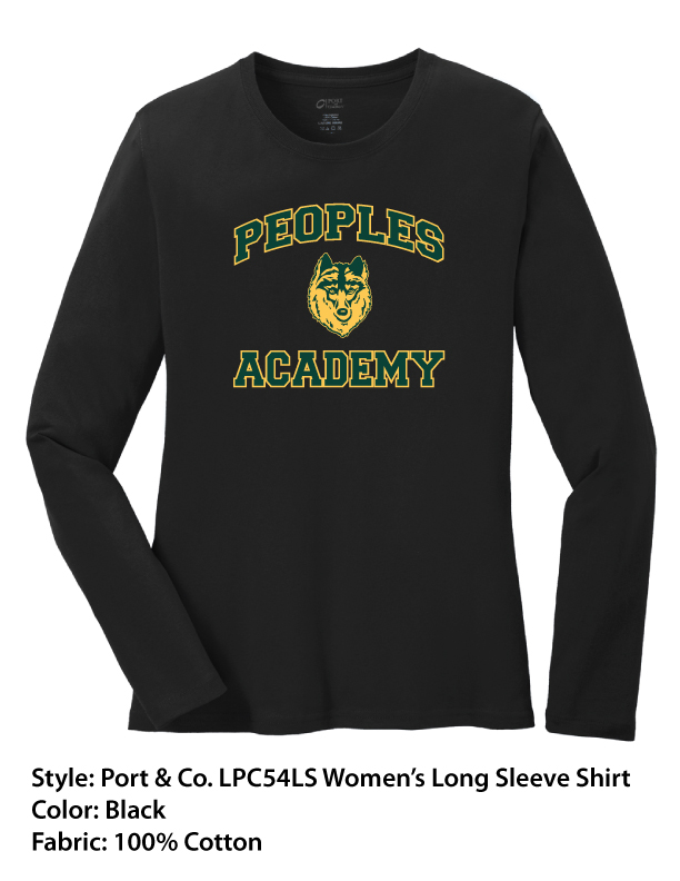 Peoples Academy | Port & Co. Long Sleeve Shirts