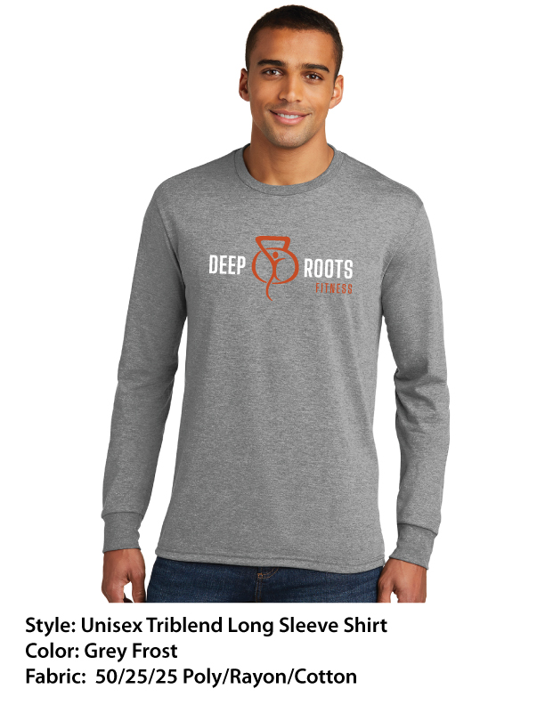 Deep Roots Fitness – Unisex Triblend Long Sleeve Shirts