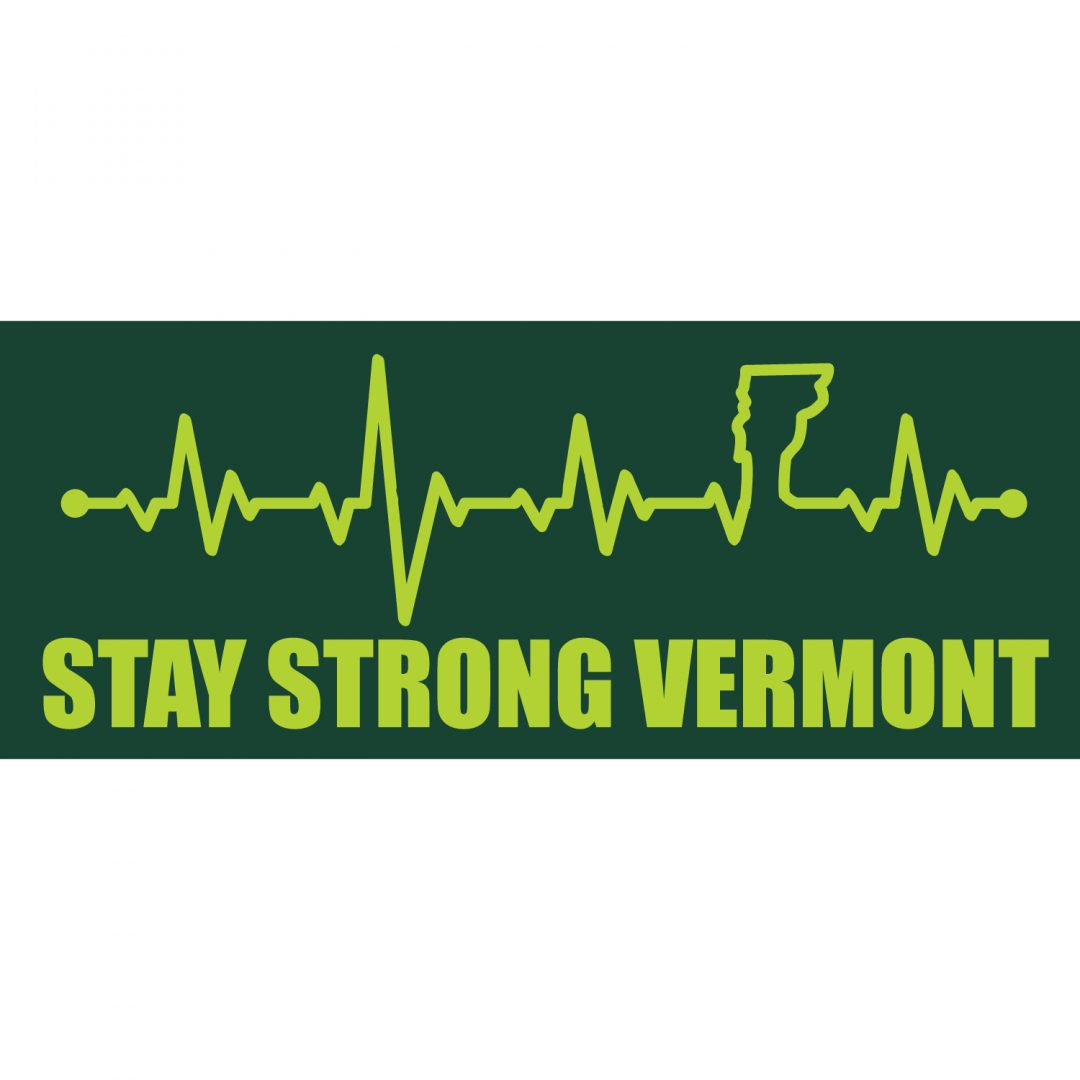 COVID-19 – Stay Strong Vermont – EKG Bumper Sticker